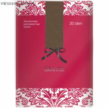 Элегантные шелковистые чулки, цвет бронзовый, 20 den