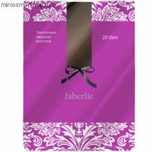 Эластичные колготки с рисунком сетка, цвет бронза, 20 den